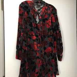 NWT Kooples Paris Velvet Rose Dress Sz 1